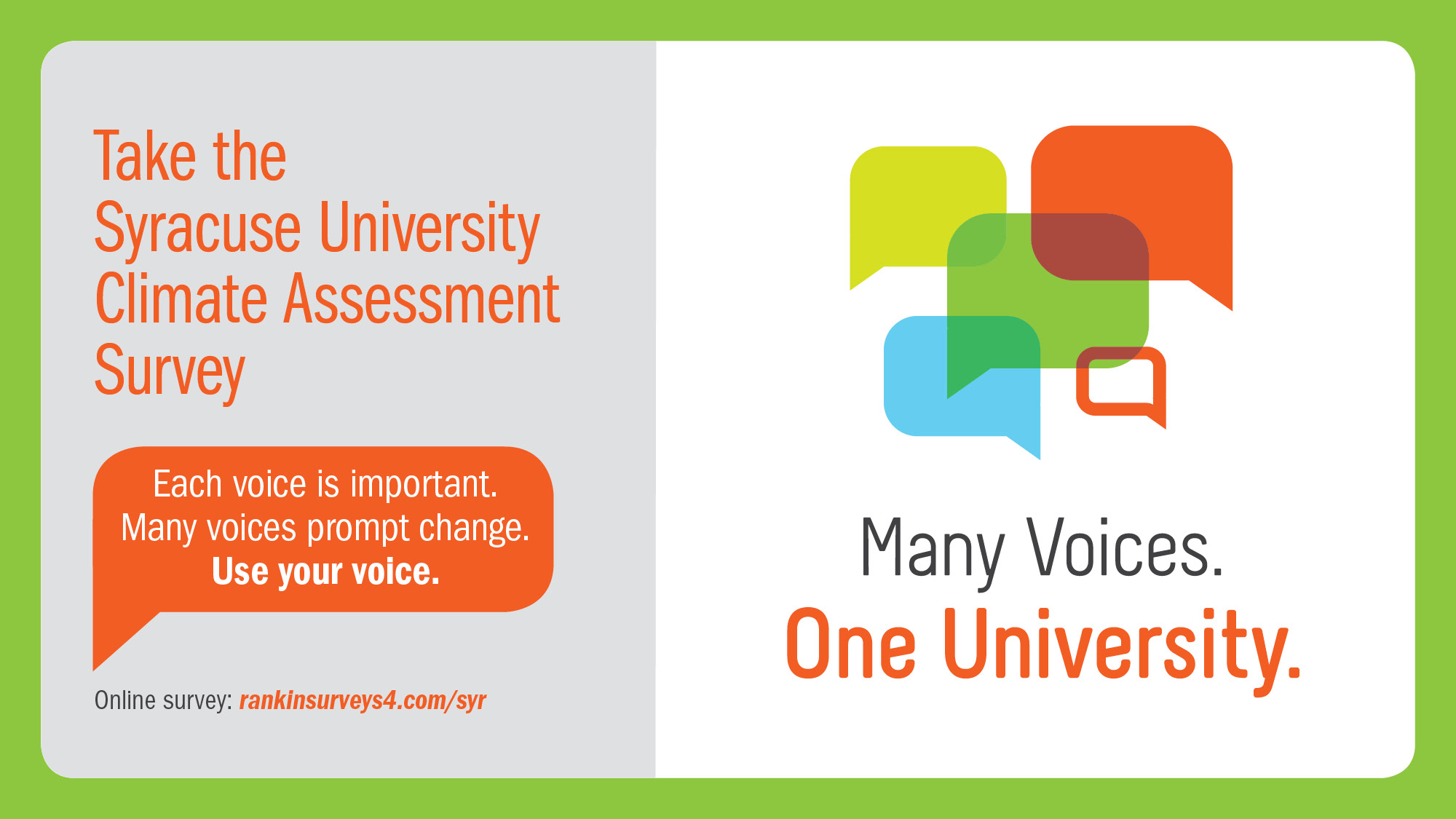 Click here to take the Syracuse University Assessment Survey
